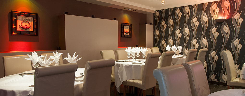 The restaurant offers a warm welcome and cozy atmosphere